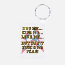 Don't Touch My Flag Aluminum Photo Keychains