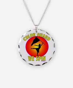 Color Guard - We Spin Necklace Circle Charm