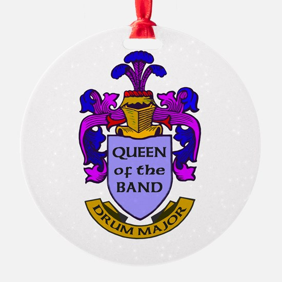 Drum Major - Queen of the Band Round Ornament