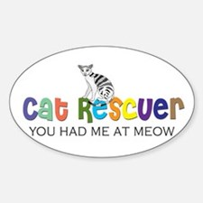 cat rescuer Oval Decal
