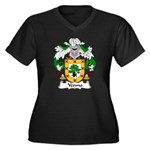 Yermo Family Crest Women's Plus Size V-Neck Dark T