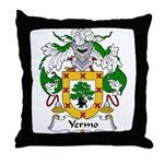 Yermo Family Crest Throw Pillow