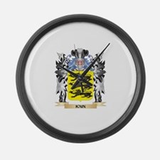 Kain Coat of Arms - Family Crest Large Wall Clock