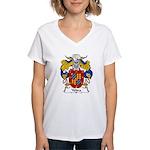 Yebra Family Crest Women's V-Neck T-Shirt