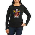Yebra Family Crest Women's Long Sleeve Dark T-Shir