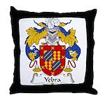 Yebra Family Crest Throw Pillow