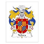 Yebra Family Crest Small Poster