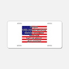Armed Security Aluminum License Plate