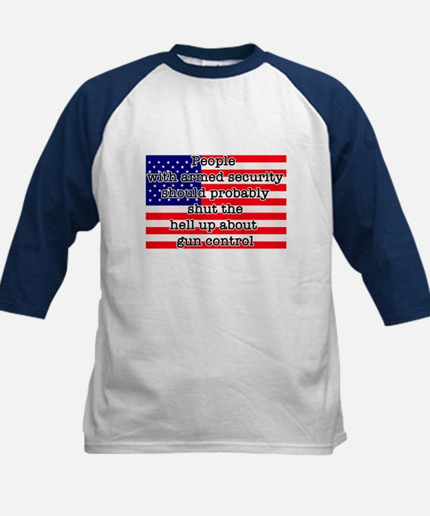 Armed security Kids Baseball Jersey