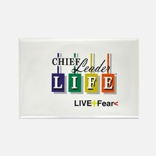Chief Leader Life Live Positive T shirt Magnets