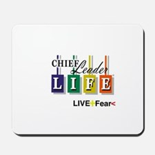 Chief Leader Life Live Positive T shirt Mousepad