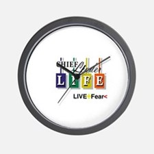 Chief Leader Life Live Positive T shirt Wall Clock