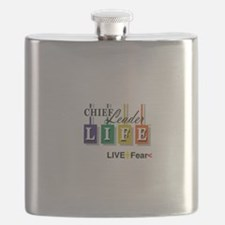 Chief Leader Life Live Positive T shirt Flask