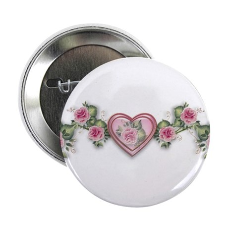 """Painted Roses 2.25"""" Button (10 pack)"""