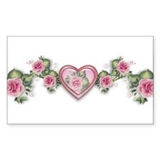 Painted Roses Rectangle Decal