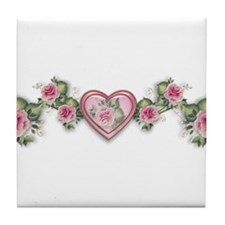 Painted Roses Tile Coaster