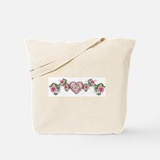 Painted Roses Tote Bag
