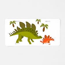 Cute Stegosaurus Aluminum License Plate