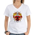 Xuarau Family Crest Women's V-Neck T-Shirt