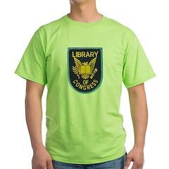 Library of Congress Green T-Shirt