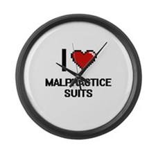 I Love Malpractice Suits Large Wall Clock