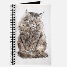 Maine Coon snoozing Journal