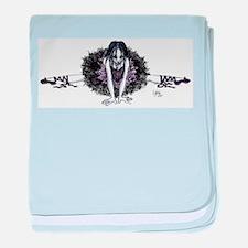 Ballerina Gothic baby blanket