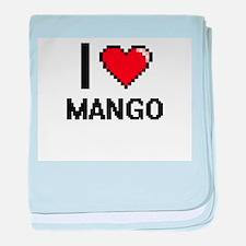 I Love Mango baby blanket