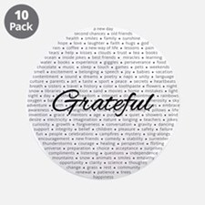 """Grateful For... 3.5"""" Button (10 Pack)"""