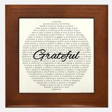 Grateful For... Framed Tile