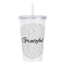 Grateful For... Acrylic Double-Wall Tumbler