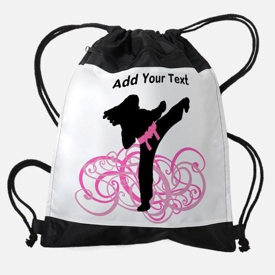 Pink Kicks Drawstring Bag
