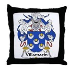 Villamarin Family Crest Throw Pillow