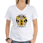 Villalobos Family Crest Women's V-Neck T-Shirt