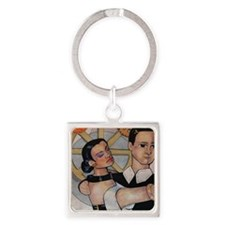 First Dance Square Keychain