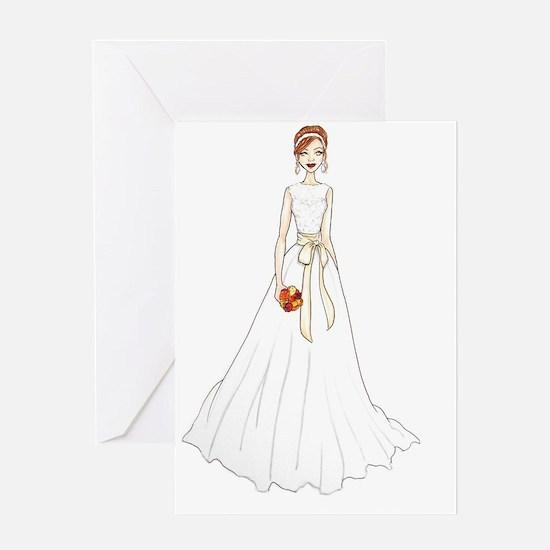 Fall Bride Greeting Card