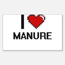 I Love Manure Decal