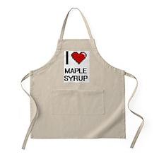 I Love Maple Syrup Apron