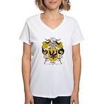 Villa Family Crest Women's V-Neck T-Shirt