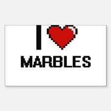 I Love Marbles Decal