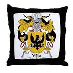 Villa Family Crest Throw Pillow