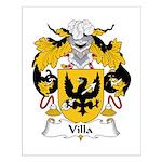 Villa Family Crest Small Poster