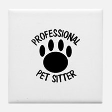 Professional Pet Sitter Paw Print Tile Coaster