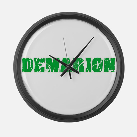 Demarion Name Weathered Green Des Large Wall Clock