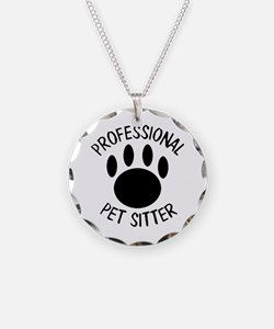 Professional Pet Sitter Paw Necklace