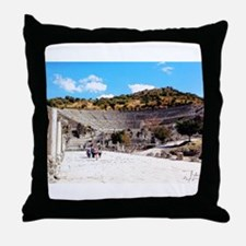A Stadium View Throw Pillow