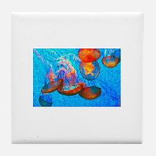 Cool Beach rose Tile Coaster