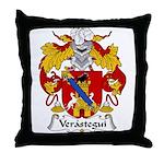 Verastegui Family Crest Throw Pillow