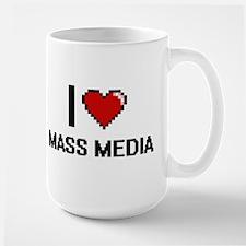 I Love Mass Media Mugs