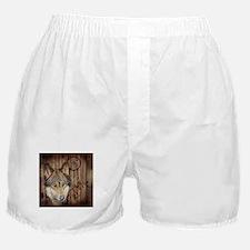 vintage Americana wild wolf Boxer Shorts